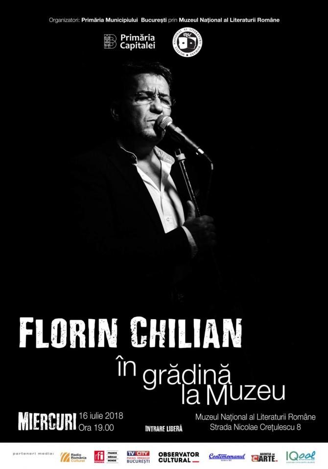 Florin Chilian – concert în Grădina Muzeului Literaturii