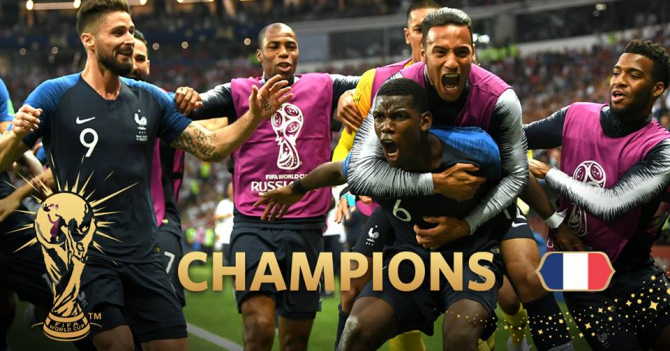 Franța campioană mondială. Bucuria victoriei - VIDEO. foto: @fifaworldcup