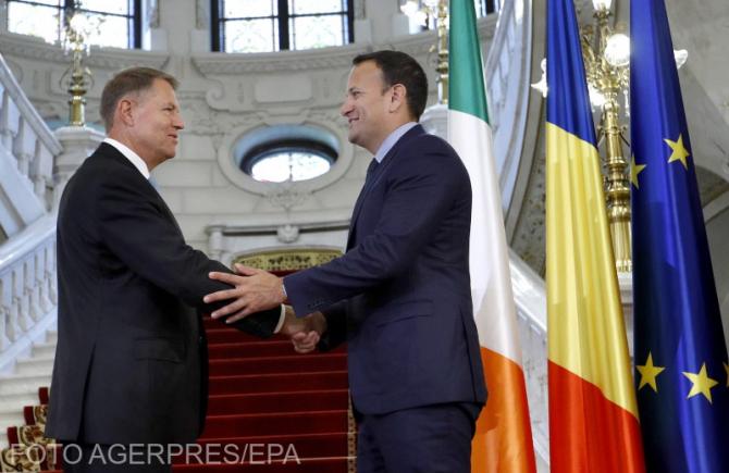 Klaus Iohannis, alături de Premierul Irlandei