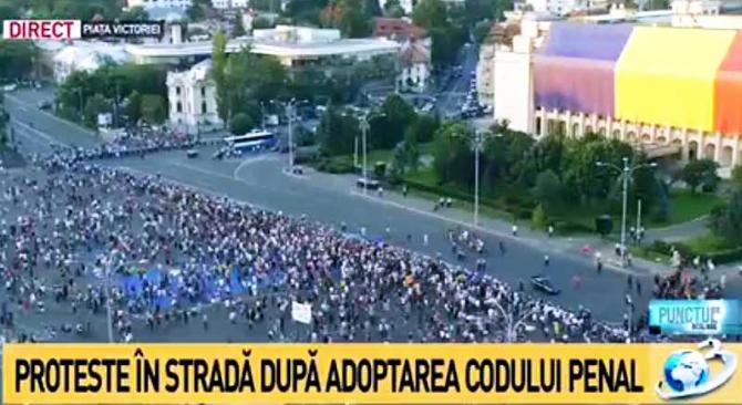 Proteste, imagine Antena 3