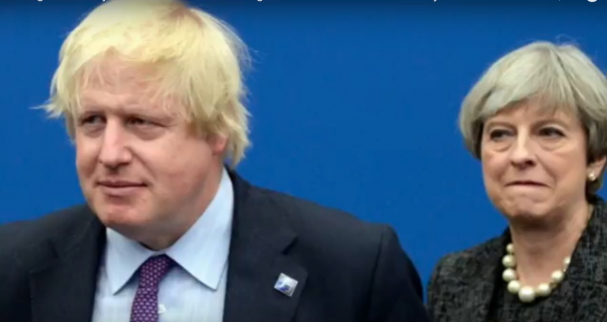 Theresa May, Boris Johnson