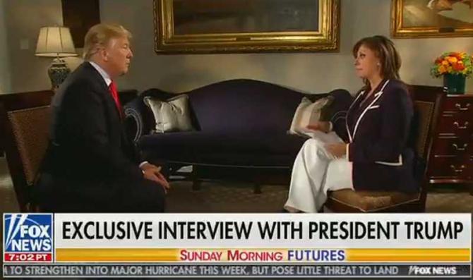 Donald Trump, interviu Fox. captură video Twitter