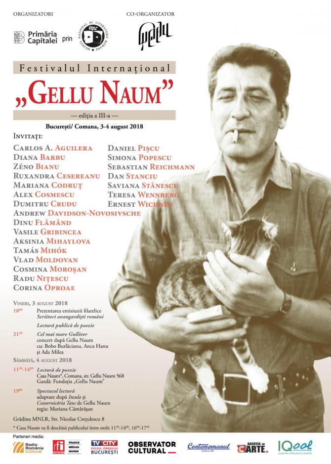 """Începe Festivalul Internațional """"Gellu Naum"""""""