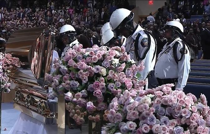 Aretha Franklin, funeralii
