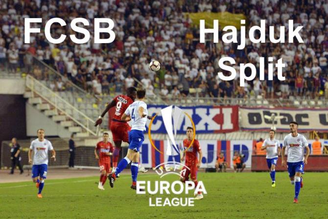 FCSB - Hajduk Split . Rezultat final. Europa League