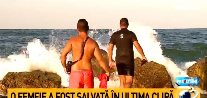 Steag roșu pe litoralul românesc. Lipoveanu, pericol: Ești ca o scobitoare între valuri!