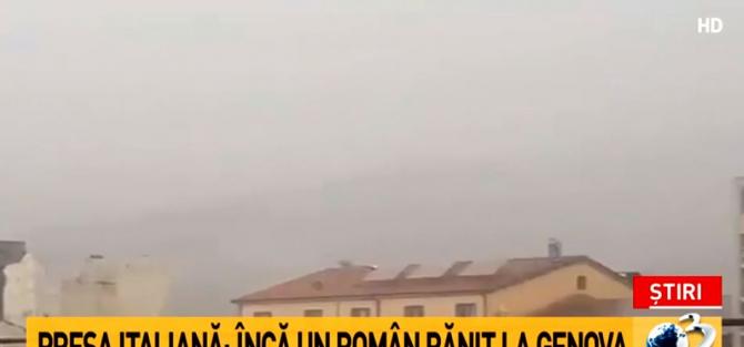 Pod prăbușit Genova. Informații despre un alt român