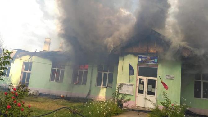 Scoala Tulcea, incendiu. foto: ziaruldetulcea.ro