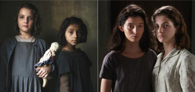Eroinele din Amica geniale la vârsta copilăriei și apoi a adolescenței