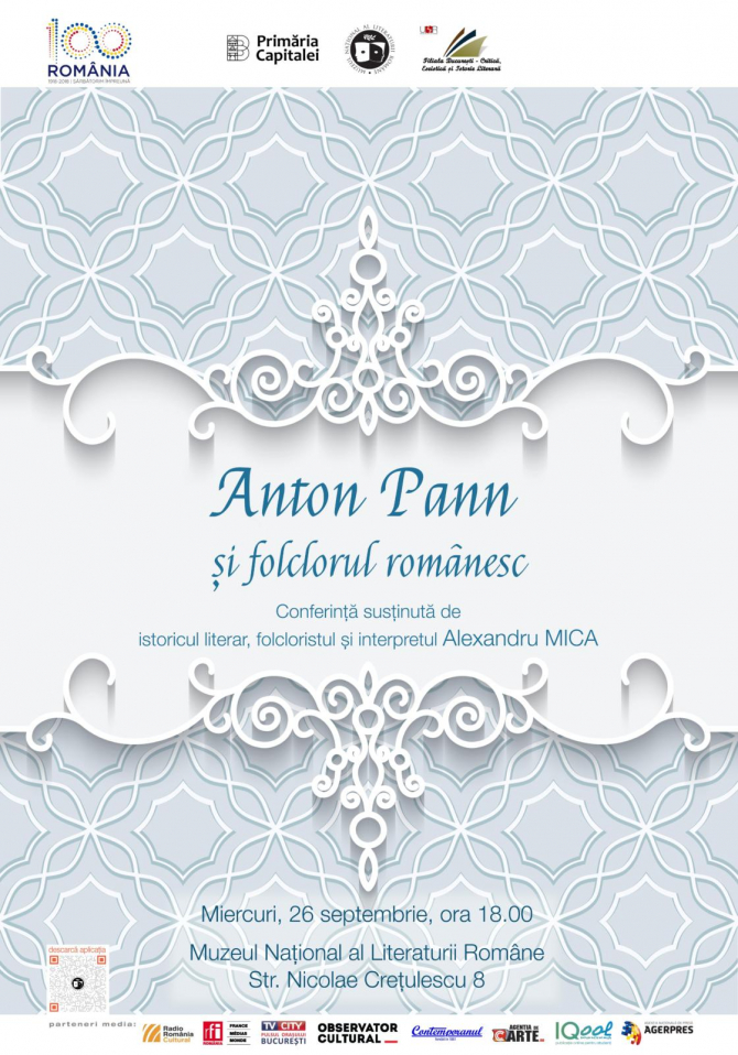 """Conferință – """"Anton Pan și folclorul românesc"""""""