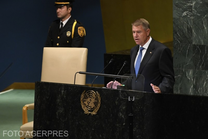 Klaus Iohannis, la ONU