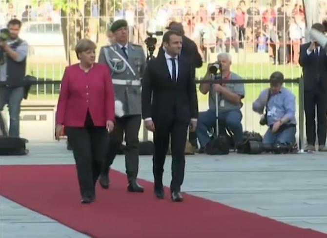Întâlnire Macron - Merkel