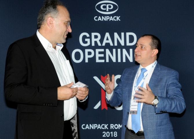 ,Primarul Sectorului 4 Daniel Baluță, alături de Cristian Cornea, Director General CanPack România