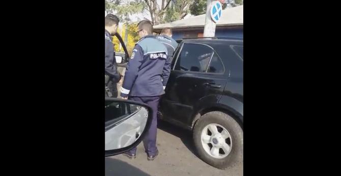 Poliție  - șofer, bătaie în trafic