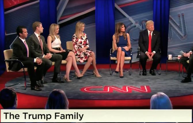 Trump și familia sa. foto: captură video CNN