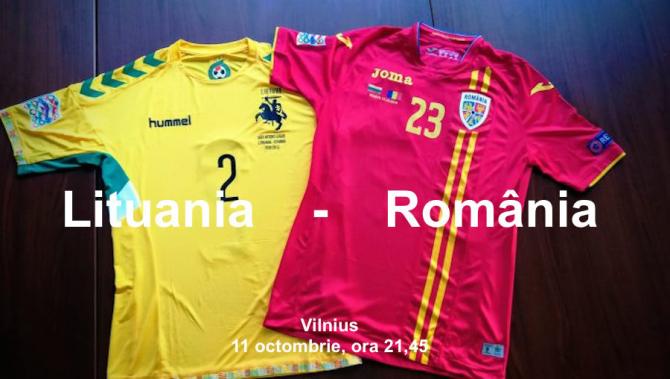Lituania România, Vilnius, 11 octombrie 2018