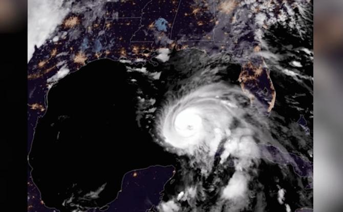 Uraganul Michael, vedere din spațiu