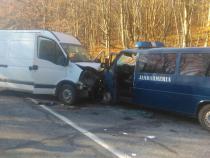 Accident în Covasna. Patru jandarmi, la spital