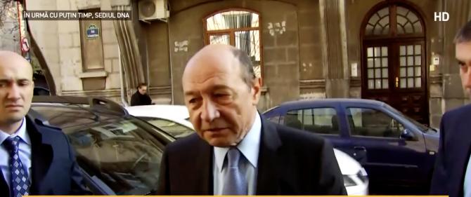 Traian Băsescu, la DNA