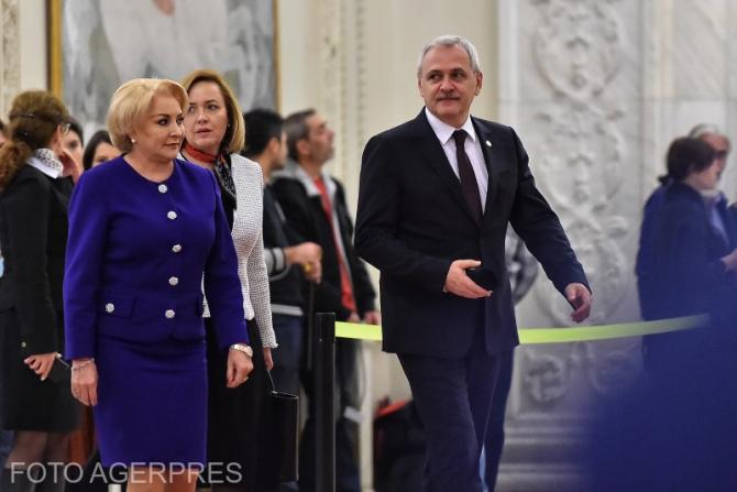 Viorica Dăncilă și Liviu Dragnea