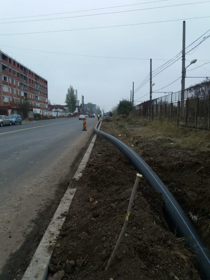 1,6 kilometri de rețea pentru preluarea apelor pluviale