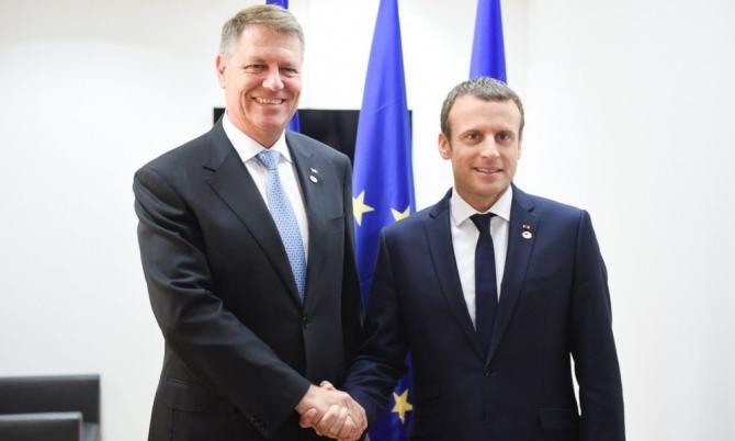 Klaus Iohannis și Emmanuel Macron