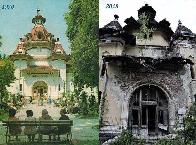 Pavilionul de băi, Govora, o bijuterie arhitecturală ajunsă ruină
