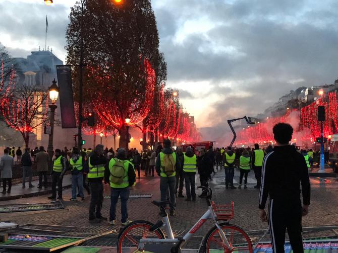 Proteste Paris noiembrie 2018
