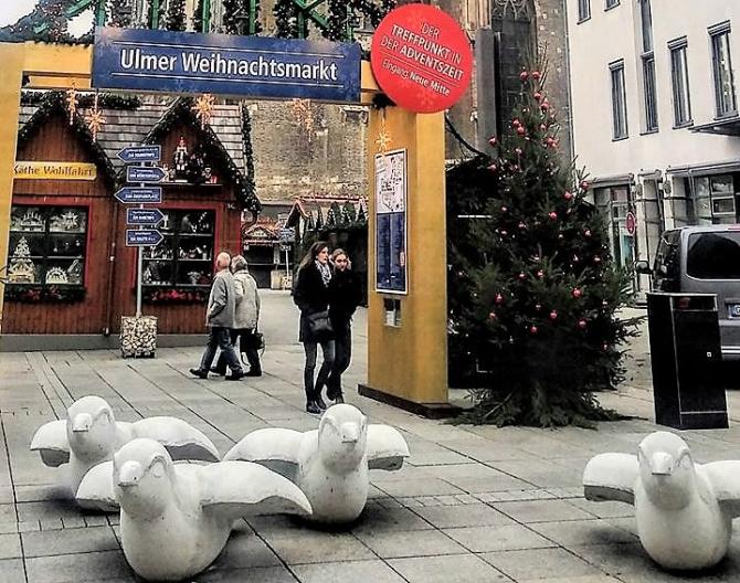 Vrăbiile antiteroriste. Pază pentru Târgul de Crăciun în Ulm