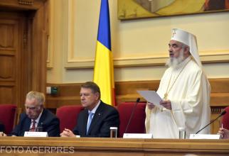 Klaus Iohannis și Patriarhul Daniel