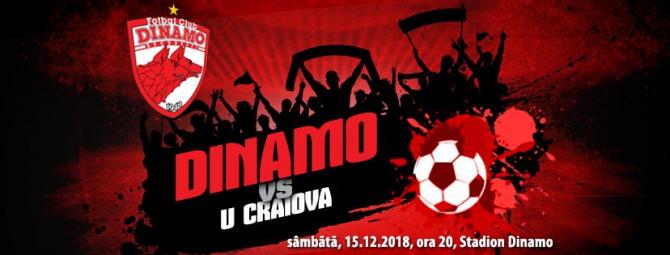 DINAMO - U CRAIOVA, LIVE de la 21:00. Scor