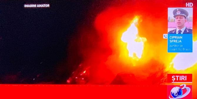Incendiu cabană Bran