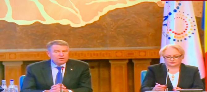 Viorica Dăncilă și Klaus Iohannis