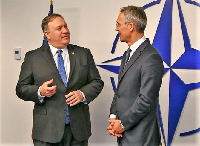 Mike Pompeo și jens Stoltenberg. Reuniune NATO. Ultimatum pentru Rusia