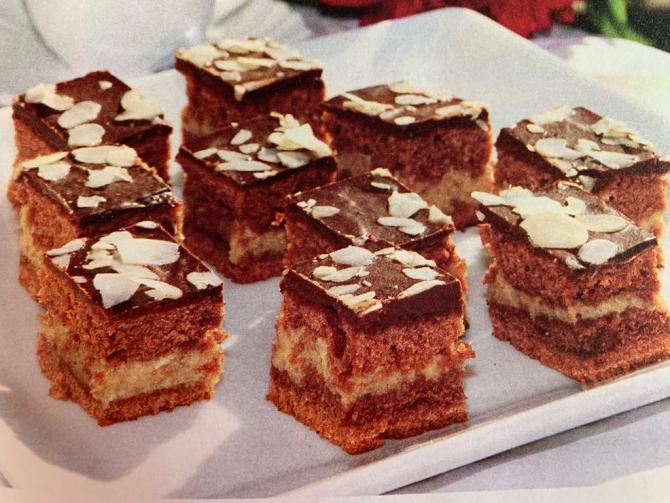 Prăjitură cu cacao și cremă de nuci