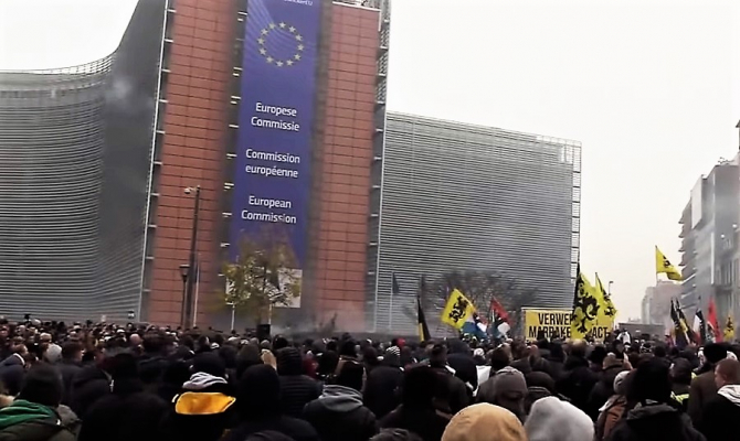 Violențe la Bruxelles. Comisia Europeană, reacție fermă