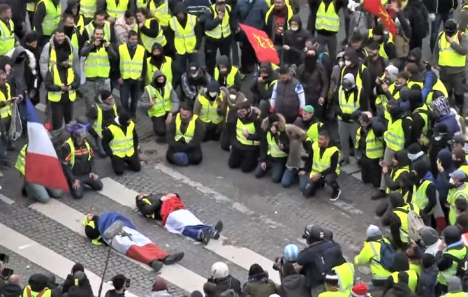 Protest ''vestele galbene''