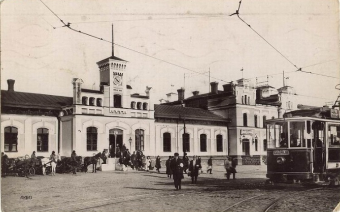Railway station, Chișinău, 1936