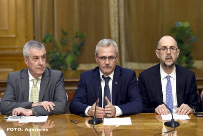 Călin Popescu Tăriceanu, Liviu Dragnea și Kelemen Hunor