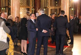 Ministrul Finanțelor, Eugen Teodorovici, alături de directorul SRI, Eduard Hellvig