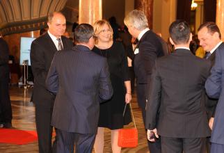 Comisarl european, Corina Crețu, întâmpinată de Eugen Teodorovici