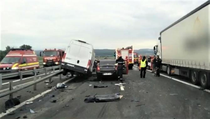 Acciident autostrada. foto ilustrativ
