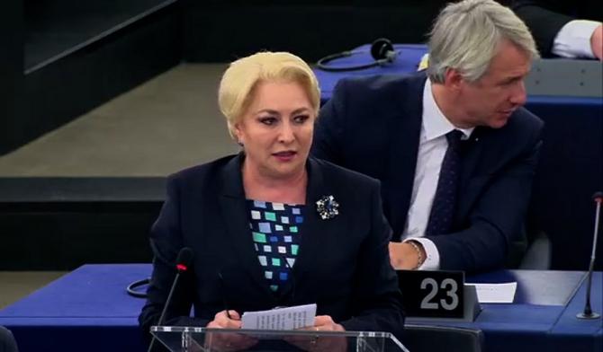 """""""Viorica Dăncilă, discurs în plenul Parlamentului European: """"Vă rog să nu plecați cu o idee preconcepută"""""""""""