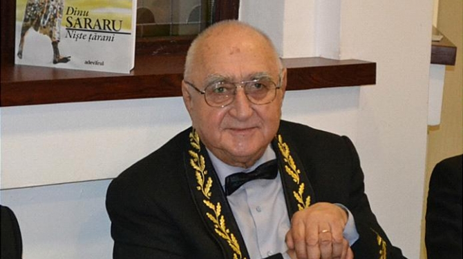 Ceremonia coincide cu împlinirea vârstei de 87 de ani a lui Dinu Săraru