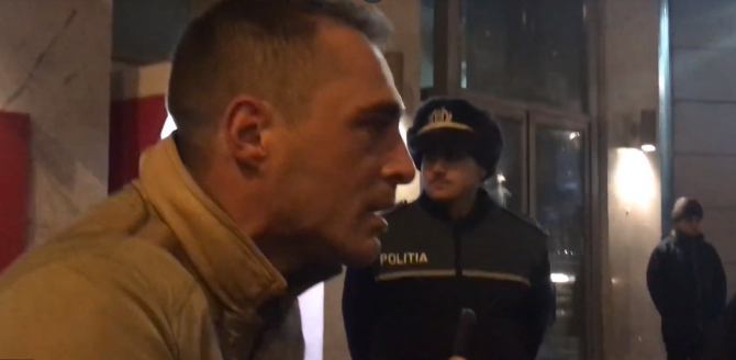 Vladimir Drăghia, scandal cu jandarmii