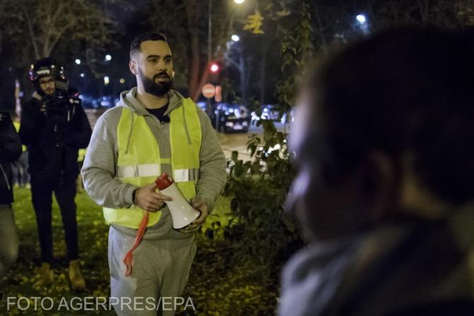 ''Vestele galbene'', prima arestare a unui lider