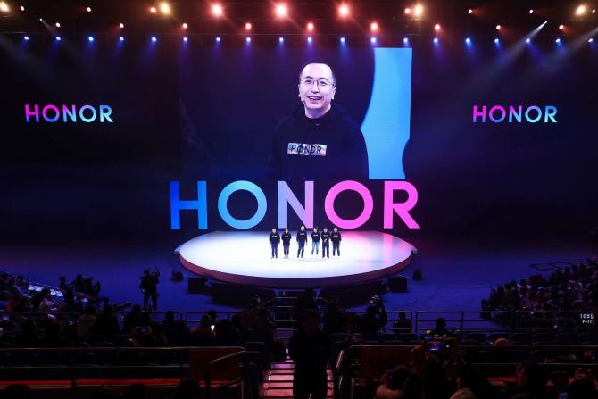 George Zhao, la HONOR Fans Fest din Beijing, după lansarea HONOR View20 din China