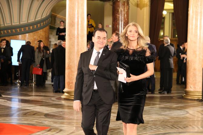 Liderul PNL, Ludovic Orban, alături de Alina Gorghiu