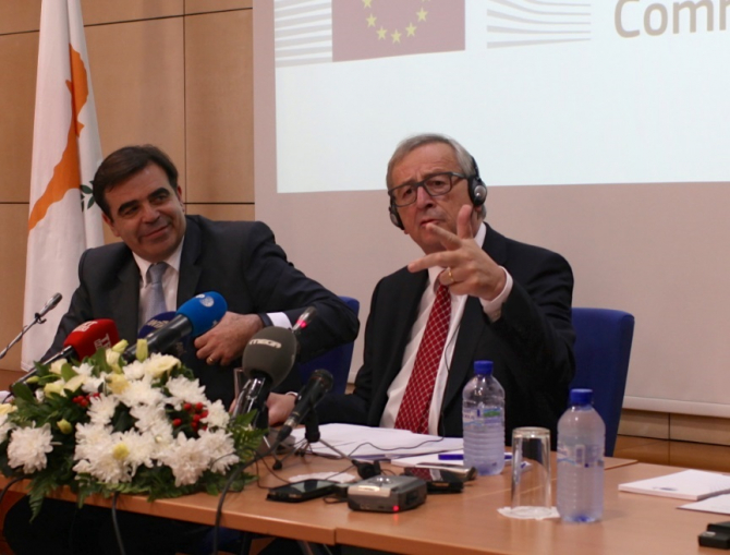 Margaritis Schinas și Jean Claude Juncker, Comisia Europeană