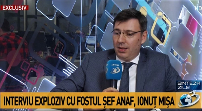 Ionuț Mișa, fost sef ANAF. foto: captura video Antena 3